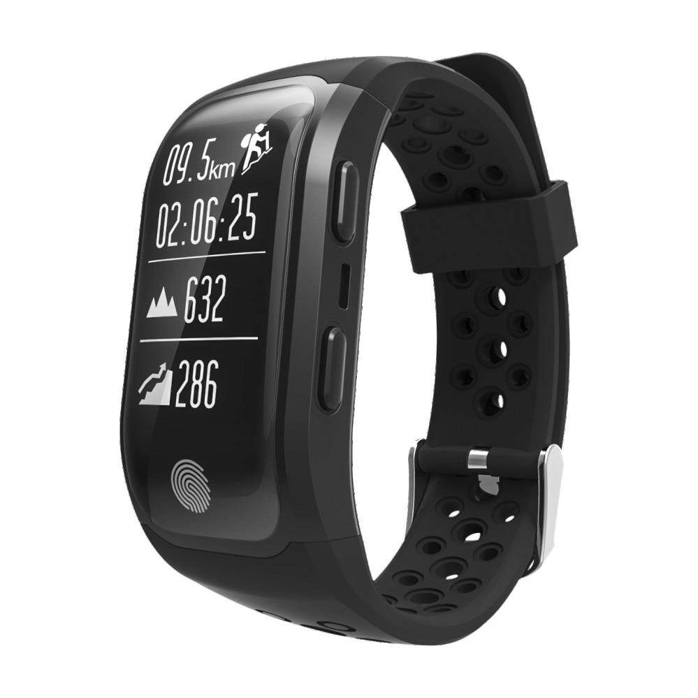 FIZILI S908 Bluetooth Smart Watch GPS Tracker Wristband IP68 Waterproof Heart Rate Monitor Fitness Tracker Smart