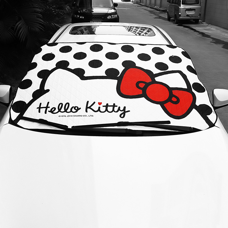 Car Windshield Sunshade Kitty Cat Front Window Sun Shade Cute Insulation Sunshade Auto Solar Protection Car Accessories