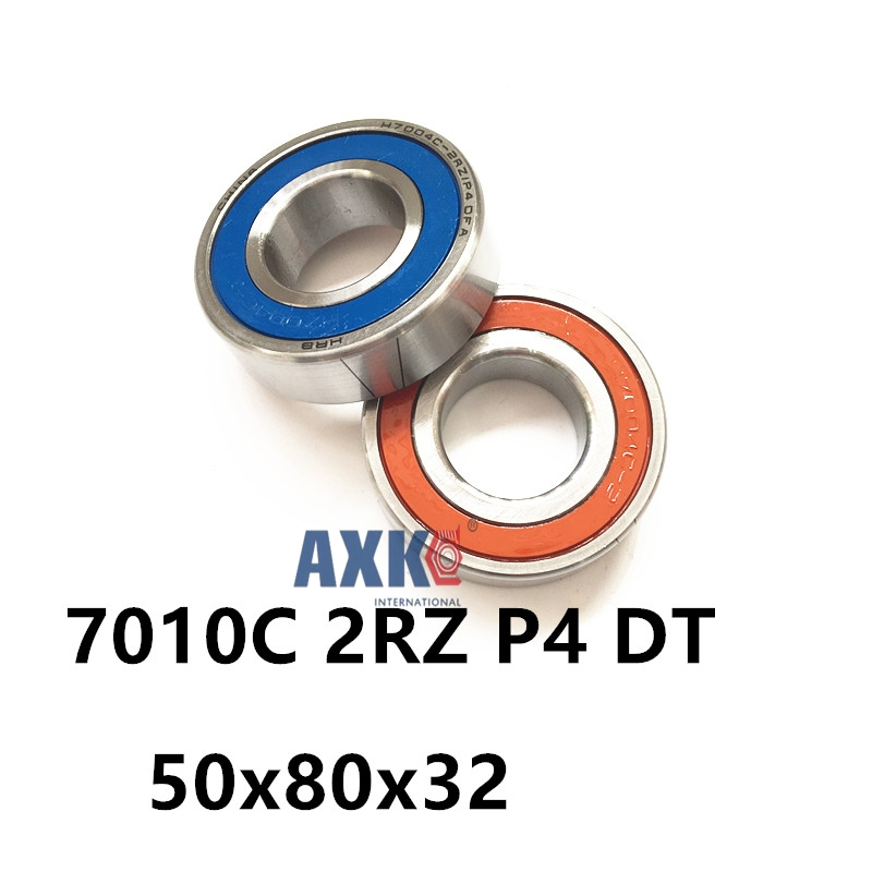 1 Pair AXK  7010 7010C 2RZ P4 DT 50x80x16 50x80x32 Sealed Angular Contact Bearings Speed Spindle Bearings CNC ABEC-7 1pcs 71901 71901cd p4 7901 12x24x6 mochu thin walled miniature angular contact bearings speed spindle bearings cnc abec 7