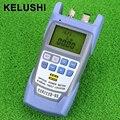 KELUSHI All-IN-ONE FTTH Fibra Óptica Power Meter-70 A + 10dbm E 10 mw 10 km de Fibra Testador de Cabo de fibra óptica Localizador Visual de Falhas