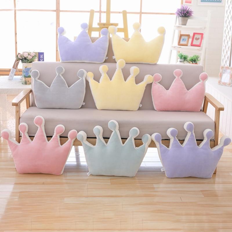 Baby Cute Crown Shape Pillow Cushion Cotton Fashion Kids Troddler Creative Decoration Plus Infant Bedding Pillows