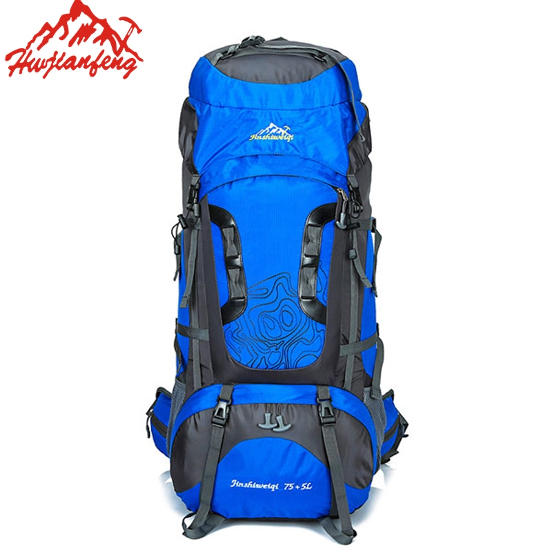 80L Large Capacity Outdoors Nylon Waterproof Backpack Travel Camping Hiking Rucksacks Sport Bag Climbing Package With Rain Cover цена