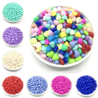 Wholesale 100pcs 8mm heart-shaped color acrylic punch beads for jewelry making DIY bracelet necklace accessories