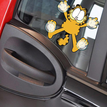 ФОТО car sticker car styling funny cartoon garfield adsorbed on glass decals motorcycle stickers [free shipping]