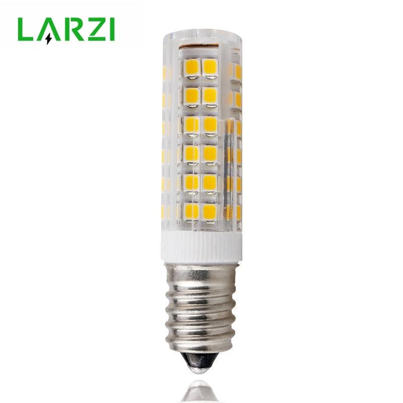 LARZI Mini E14 LED Lamp 3W 4W 5W 7W 220V LED Corn Bulb SMD2835 360 Beam Angle Replace Halogen Chandelier Lights 5w led gy6 35 silicone corn bulb 40w gy6 35 halogen replacement 110v g6 35 bi pin base led crystal ceiling light bulb