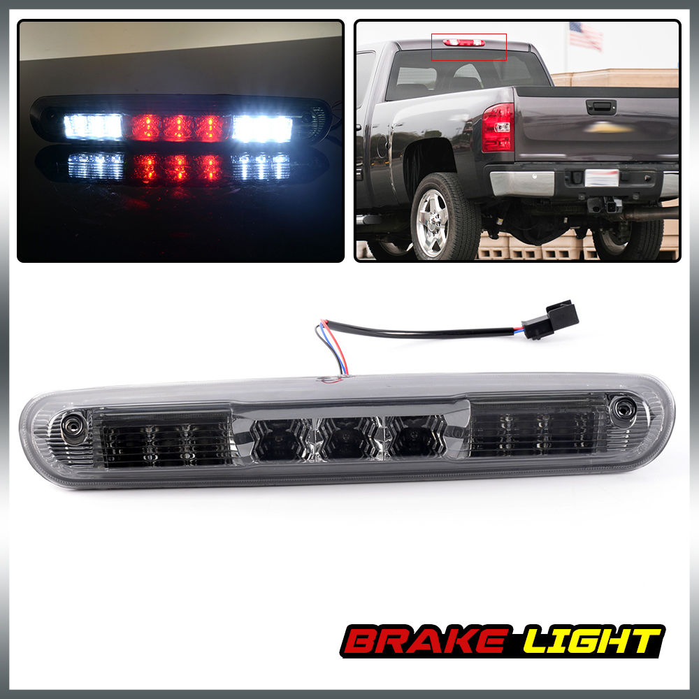 US Shipping LED 3RD Brake Light Lamp For 07-13 Chevy Silverado GMC Sierra 1500 2500 3500 for 99 02 chevy silverado sierra tail lights chrome lamps usa domestic free shipping