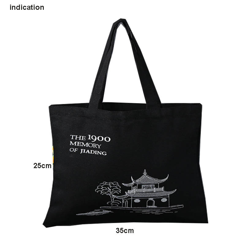 50 Pcs 35Cm*25Cm One Color Logo Solkscreen Printing On One Side Of Bag Customized Logo Tote Bag Cotton Canvas Shopping Bags