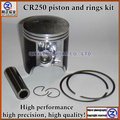 Free shipping high quality  for HONDA motorcycle engine parts STD +0.25 +0.50 +0.75 +1.00 CR250 piston and rings kit