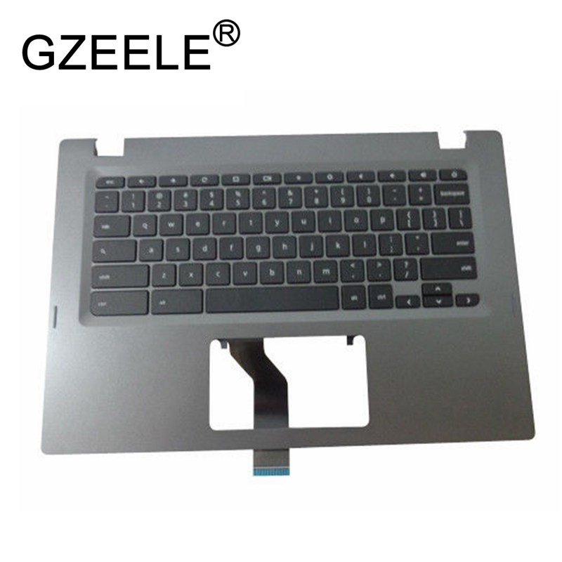 цены GZEELE new for Acer Chromebook 14 CP5-471 series Palmrest Top Case Assembly upper cover keyboard bezel laptop Non-Backlit