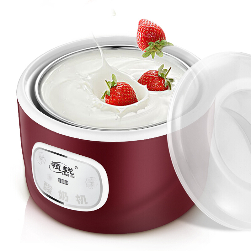 Automatic Electric Yogurt Maker Multifunction Stainless Steel Leben Container Natto Rice Wine Machine Four Yoghurt Cups 1LAutomatic Electric Yogurt Maker Multifunction Stainless Steel Leben Container Natto Rice Wine Machine Four Yoghurt Cups 1L