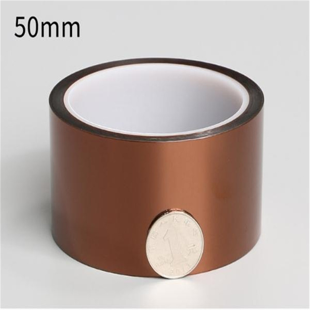 4 pcs LOT High Temperature Resistance Tapes 50mm Tawny Heat Resistant High Insulation Polyimide Adhesive Tape