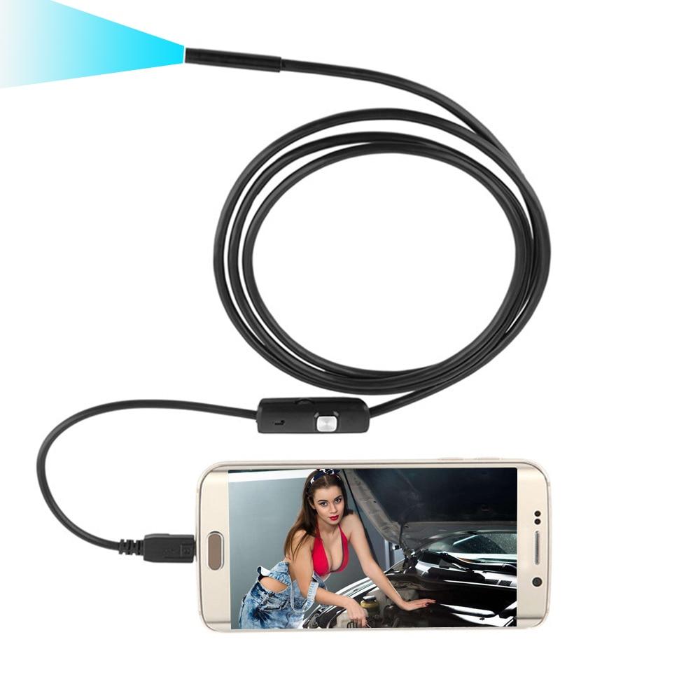 Auto Diagnose-Tool USB Kamera Wasserdichte Biegsame Auto Inspektion Draht Schlange Rohr Inspektion Für OTG Kompatibel Android Handys