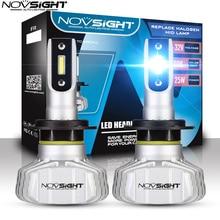 Novsight סופר מואר רכב פנסי H7 LED H4 H1 H3 H11 9005 HB3 9006 HB4 Led אוטומטי CSP 50W 10000LM מכוניות פנס 6500K
