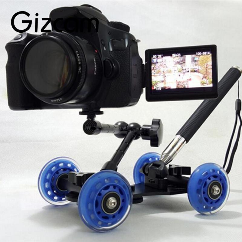 Gizcam New 3in1 Table photography dolly+11 inch Magic arm+Handheld lever monopod For DSLR Rig Camera movie kit Photo Studio kits