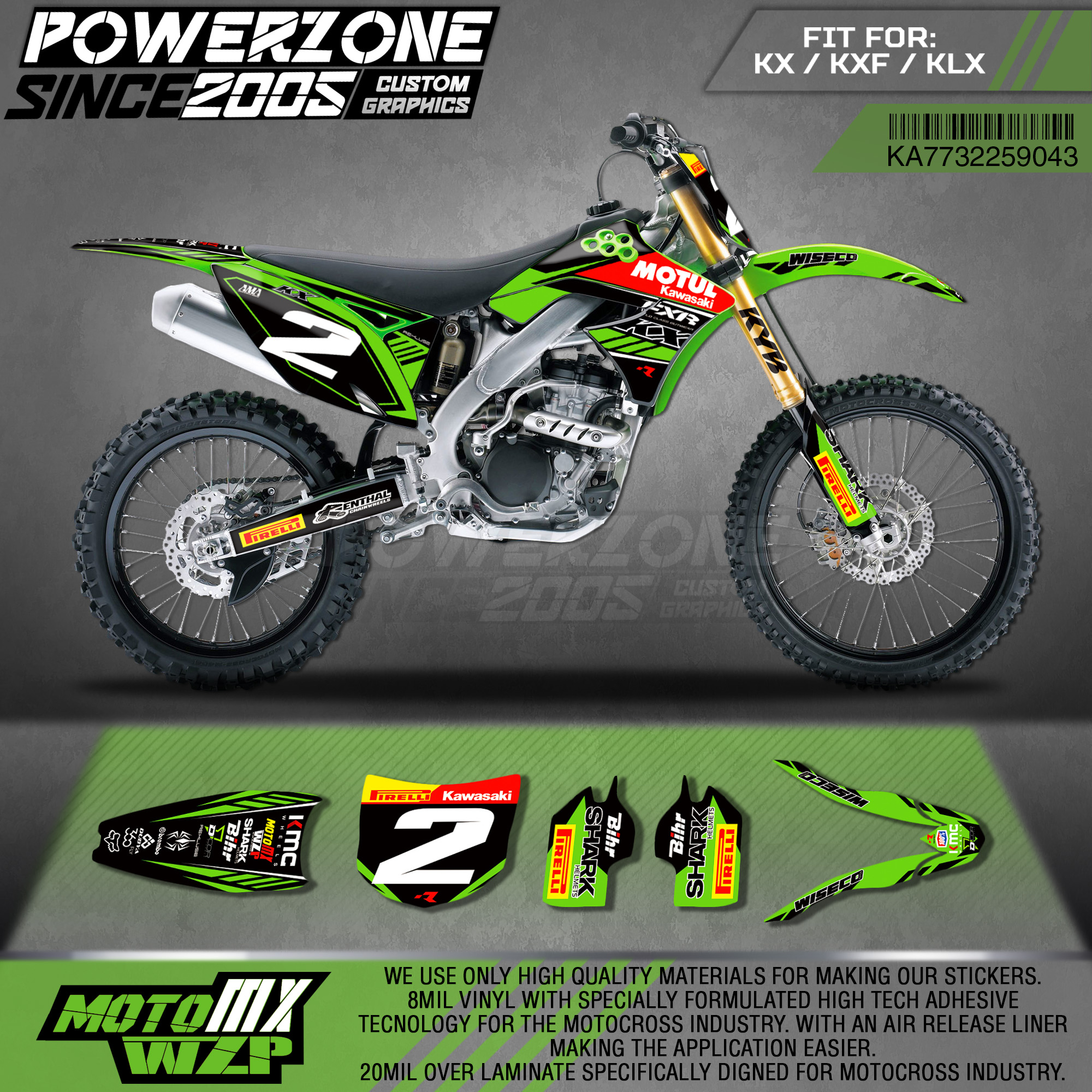 Custom number plates backgrounds KXF450//250 KXF 2013 KX250F KX450F decals 2014