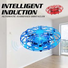 Mini Drone of Induction by Hand UFO Toys for Kids Anti-collision Drone RC Helicopter Hand-operated Quadrocopter Flying Ball Gift(China)