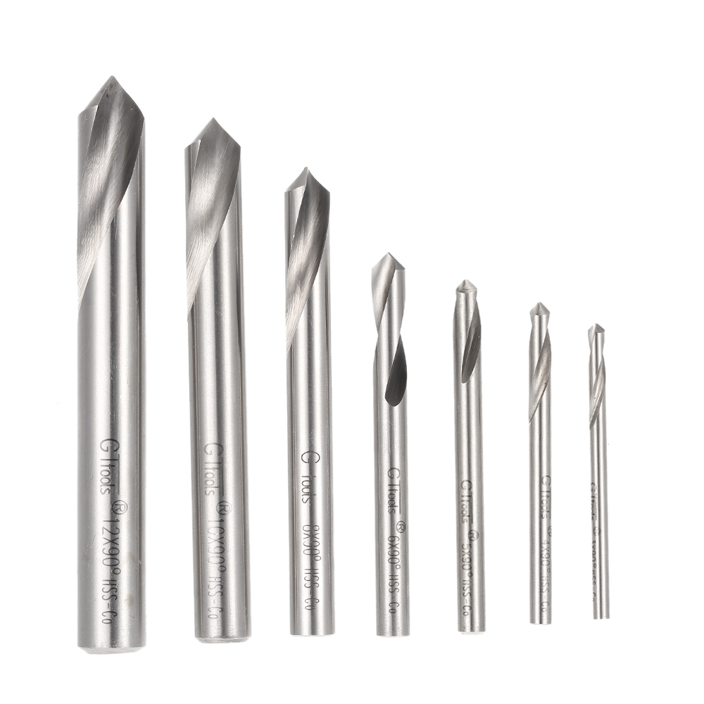 7pcs Drill M42 HSS High Speed Steel Cobalt Spotting Drill Bits Set Round Shank 90 Degree Drilling kits Chamfering Tool косметика для мамы timotei бальзам интенсивное восстановление 200 мл