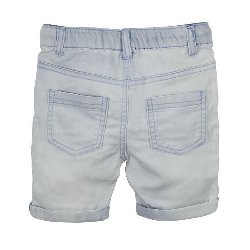 c9623b597 ... Toddler Boy Denim Shorts Summer Baby Kids Light Color Short Pants  Curling Jeans Elastic Waist Pockets ...
