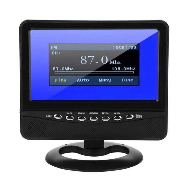 7in LCD Analog TV 20Hz-20 KHz PAL/NTSC/SECAM HD Auto Analog TV FM Radio tragbare TV für Auto MP3/MP4/JPEG/DIVX/AVI/MPG/VOB Format