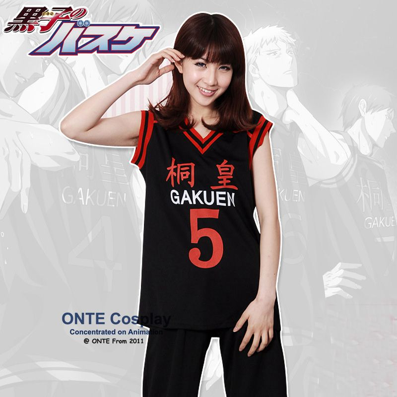 Kuroko no Basuke Gakuen School men Uniforms clothes Number 5 Aomine Daiki Sports cosplay costumes wholesale
