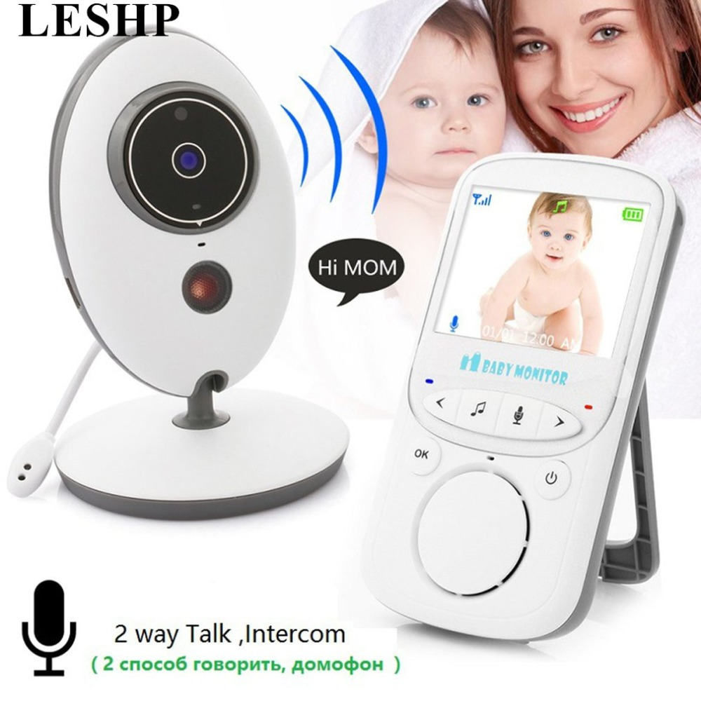 LESHP Wireless Audio Video Baby Monitor 2.4 Inch LCD VB605 Radio Nanny Music Intercom Baby Camera Night Vision Babysitter leshp wireless audio video baby monitor 2 4 inch lcd vb605 radio nanny music intercom baby camera night vision babysitter