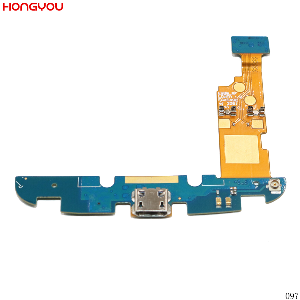 Used USB Charging Port Connector Charge Dock Socket Jack Plug Flex Cable With Microphone For LG Google Nexus 4 E960