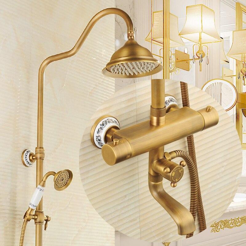 Cabeza de ducha de cobre antiguo compra lotes baratos de for Grifo ducha antiguo