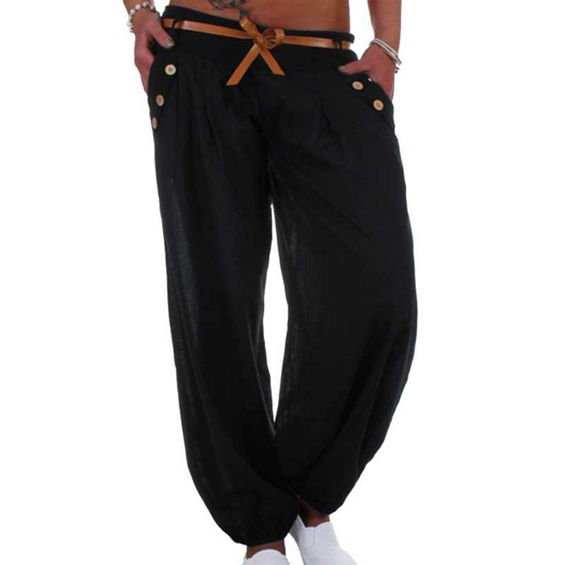 059bdfd1dd ... CALOFE 2018 Hot Sale Women's Fashion Plus Size 5XL Solid Color Casual  Long Pant Loose Baggy ...