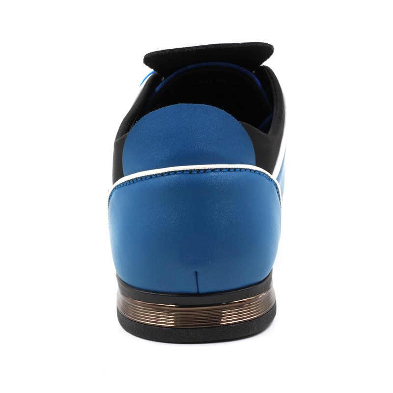 COSIDRAM PU cuir hommes chaussures décontractées nouveau 2018 printemps automne mode hommes chaussures pour homme grande taille 45 46 47 48 RME-340