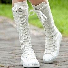 2015ผู้หญิงใหม่รองเท้าลำลองลูกไม้- upผ้าใบรองเท้าสูงเข่าผู้หญิงรองเท้าฤดูใบไม้ร่วงฤดูใบไม้ผลิที่เป็นของแข็งสีที่สะดวกสบายbotasmujercl549