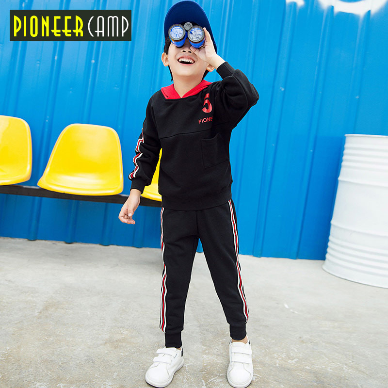 Pioneer Camp new kids  boys set children clothes for boys fashion casual child suit hooded sweatshirt tracksuit boys BTZ709305 2015 new arrive super league christmas outfit pajamas for boys kids children suit st 004