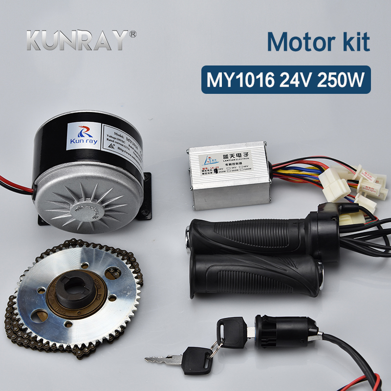 250W 24V DC Brushed Motor Kit 24V Controller 65T Tooth e bike Conversion Kit Bicicleta Electrica
