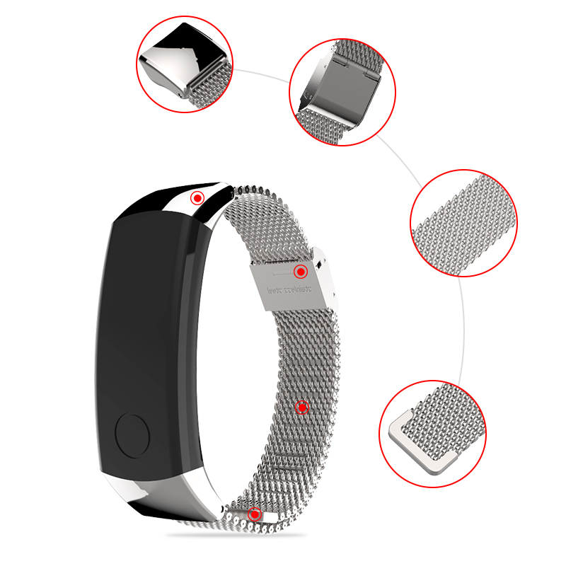 Image 3 - Metal Strap for Honor Band 3 Wristband Stainless Steel Bracelets for Huawei Honor 3 Band 4 Watch Band for Honor Band 4 StrapSmart Accessories   -