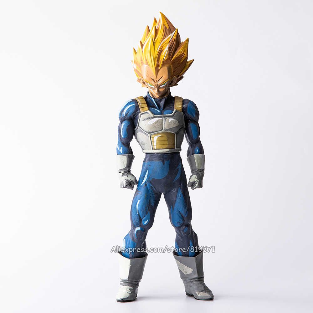 "Figurine Dragon Ball Z Action Figure Super Saiyan Vegeta Anime 2D Paint Color Figuras Collectible Toys Gift Big Size 13"" 32CM"