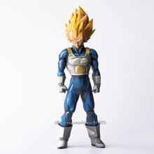 "Figura Dragon Ball Z Action Figure Super Saiyan Vegeta Anime 2D Cor Da Pintura Figuras Brinquedos Colecionáveis Presente Big Size 13 ""32 cm(China)"