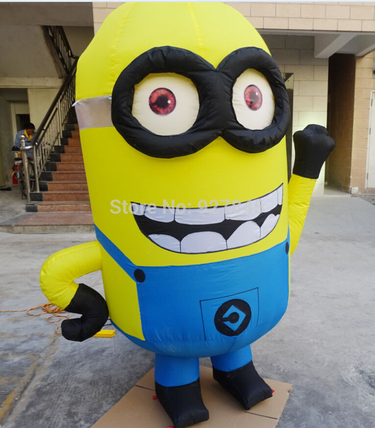 2.5M Advertising Figure Despicable Me Advertising Inflatable Minion with blower