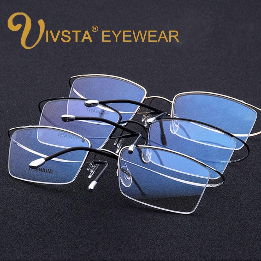 3856a0a3077 IVSTA Occhiali Al Titanio Memoria Uomini Occhiali Ottici Montatura per  occhiali Eyewear Donne Da Lettura Prescrizione Miopia Semi Rim Marca in  IVSTA ...