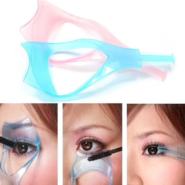 3 UNIDS Beaty Maquillaje Cosmético Largo Falso del Aplicador Del Rimel Guía Peine herramientas Cosméticas Rizador de Pestañas maquillaje Accesorios