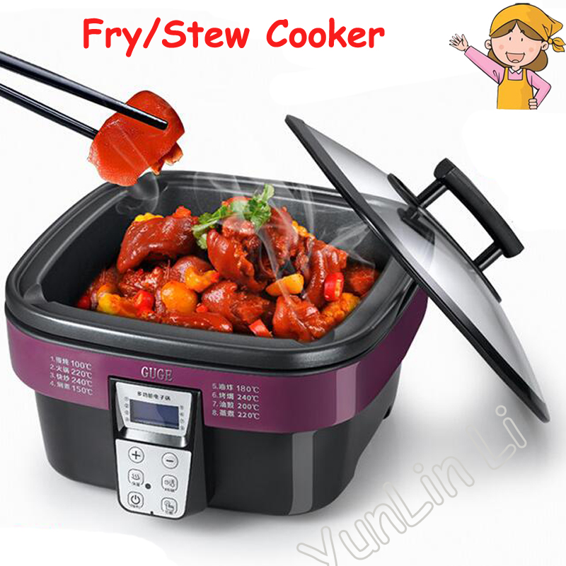 лучшая цена Multi-function Electric Cooker Non-stick Cooking Pot Stew Cooker Intelligent Fry Cooker AD-G909