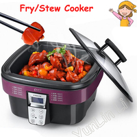 Multi function Electric Cooker Non stick Cooking Pot Stew Cooker Intelligent Fry Cooker AD G909