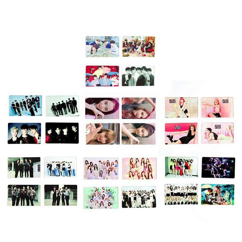 1 סט k-pop פעמיים Blackpink GOT7 PVC שקוף תמונה כרטיס חדש אלבום Photocard אוהדי אוסף מתנה