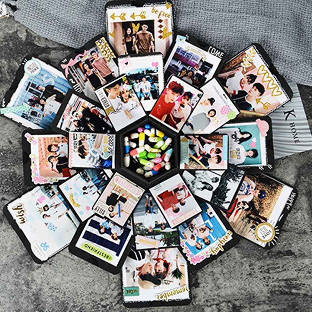 Creative Explosion Box Love Memory Multi-layer Surprise DIY Photo Album as Birthday Anniversary GiftsCreative Explosion Box Love Memory Multi-layer Surprise DIY Photo Album as Birthday Anniversary Gifts