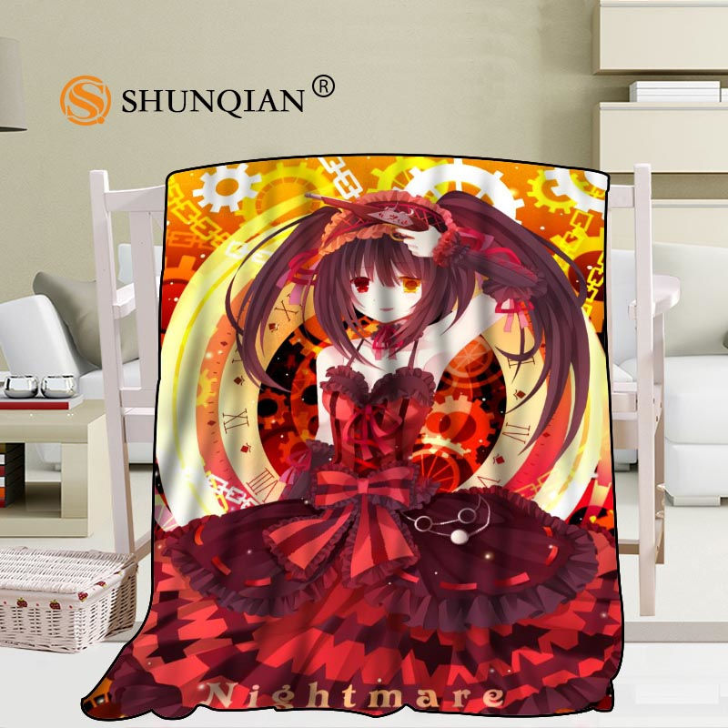 Custom Date A Live Blanket Blending Fabric 56x80inch 50X60inch 40X50inch Sofa Bed Throw Blanket Kid Adult