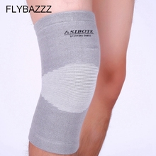 FLYBAZZZ Knitting Elastic Knee Support Compression Sports Gym Equipment Basketball Knee Pads Knee Brace Protector free shipping free shipping vigor power gear 7mm knee sleeves knee pads knee support for sports fitness warmth compression recovery