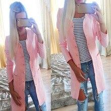 Fashion Women cute candy color long font b trench b font font b coat b font
