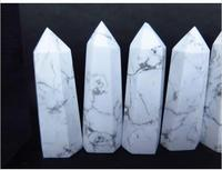 3 NATURAL White Polished Turquoise QUARTZ CRYSTAL Point Healing 1pc
