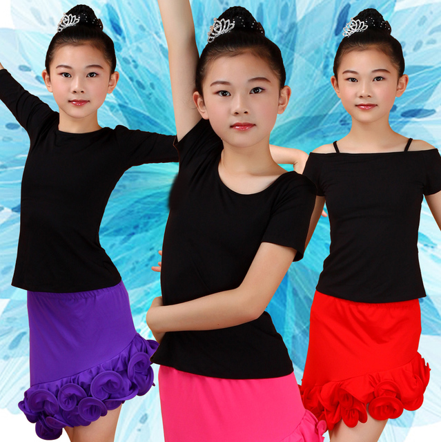 2017 New Girls Dance Top Latin Dance Clothing Fashion Dance Practice Top Salsa Performance Latin Dance Top