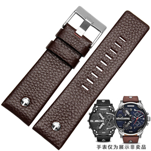 Image 5 - New Fashion Leather Watchband with rivet Watch Strap Belt Bracelet for diesel DZ7313 DZ7333 7322 7257 4318 7348 7334 Replacement