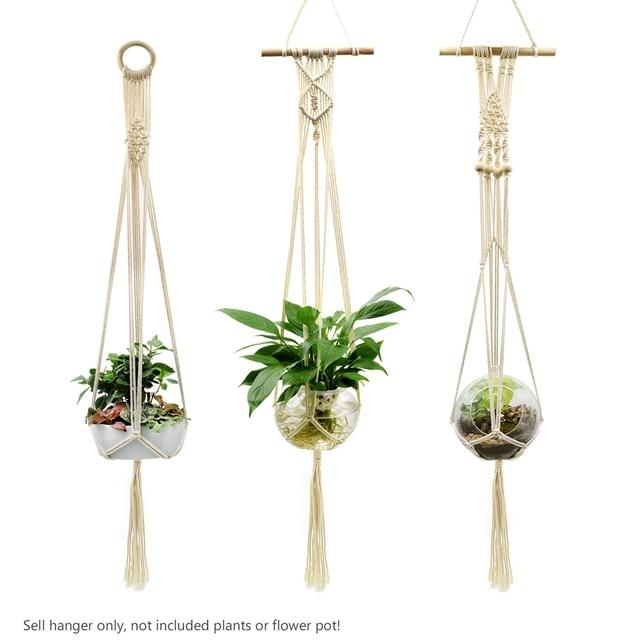 3 Style Macrame Plants Hanger 39 Inch 5 Legs Hook Flower Pot Holder