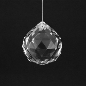 Image 1 - 10pcs 30mm/40mm Clear Crystal Faceted Ball Glass Paperweight Fengshui Crafts Natural Stone for Home Hotel DIY Decoration